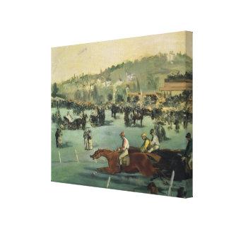 Horse Racing, 1872 Canvas Print