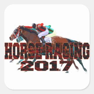 horse racing 2017 square sticker