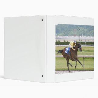 Horse racing 3 ring binder