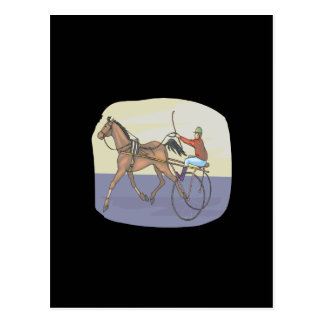 Horse Racing 4 Post Card