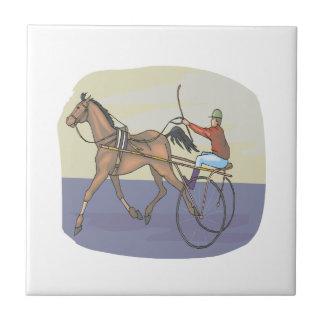 Horse Racing 4 Ceramic Tile