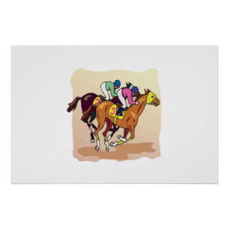 Horse Racing 6 Poster