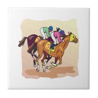 Horse Racing 6 Ceramic Tiles