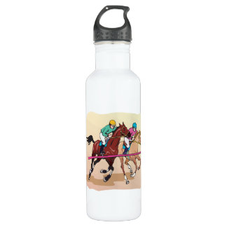 Horse Racing 7 Stainless Steel Water Bottle