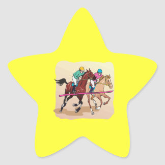 Horse Racing 7 Star Sticker