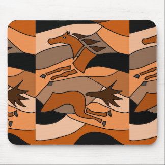 Horse Racing Abstract Art Mouse Pad