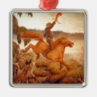 Horse Racing Across the Grass 1902 Ornament