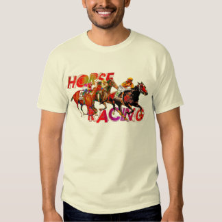 Horse Racing Action T Shirt