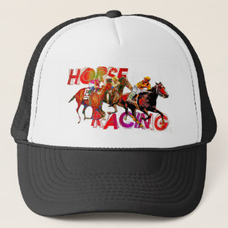 Horse Racing Action Trucker Hat