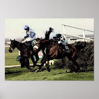 Horse Racing Art Poster Print