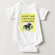 horse racing baby bodysuit