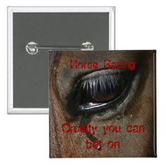 Horse Racing Badge 2 Inch Square Button