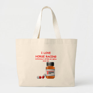 horse racing jumbo tote bag