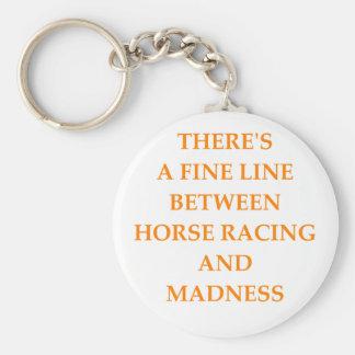 horse racing basic round button keychain