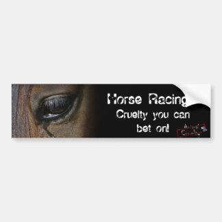 Horse Racing Bumper Sticker Car Bumper Sticker