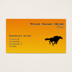 Horse Racing Business Card at Zazzle