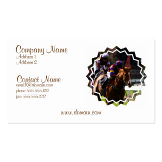 horse racing cards