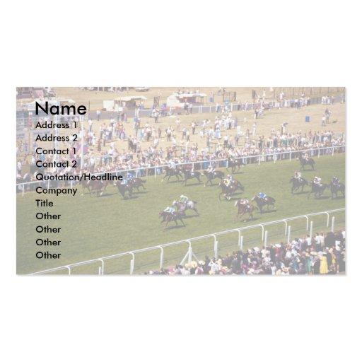 Horse racing business card templates