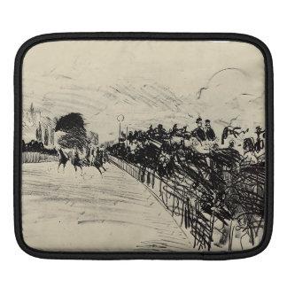 Horse racing by Edouard Manet iPad Sleeves
