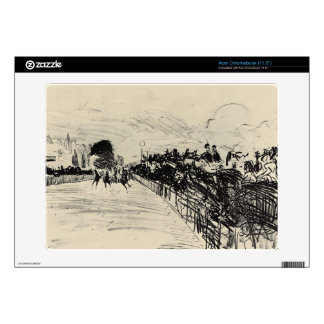 Horse racing by Edouard Manet Skin For Acer Chromebook