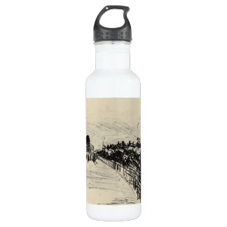 Horse racing by Edouard Manet Stainless Steel Water Bottle