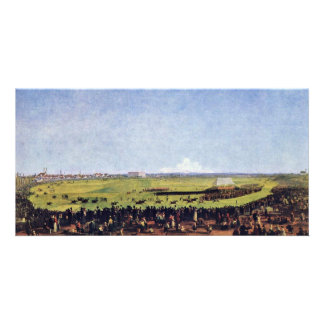 Horse Racing By Kobell Wilhelm Von (Best Quality) Picture Card