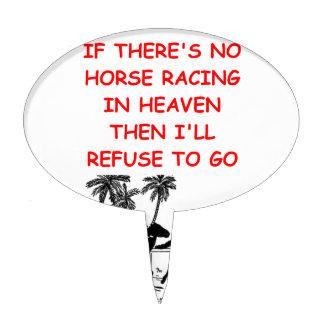 horse racing cake topper