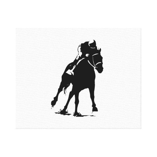 Horse Racing Gallery Wrap Canvas
