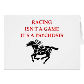 horse racing card