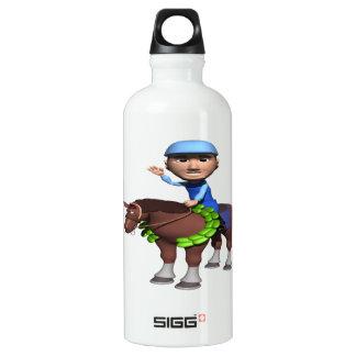 Horse Racing Champion Aluminum Water Bottle