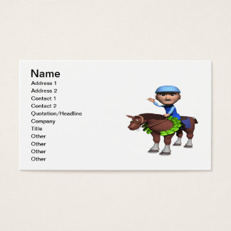 Horse Racing Champion Business Card