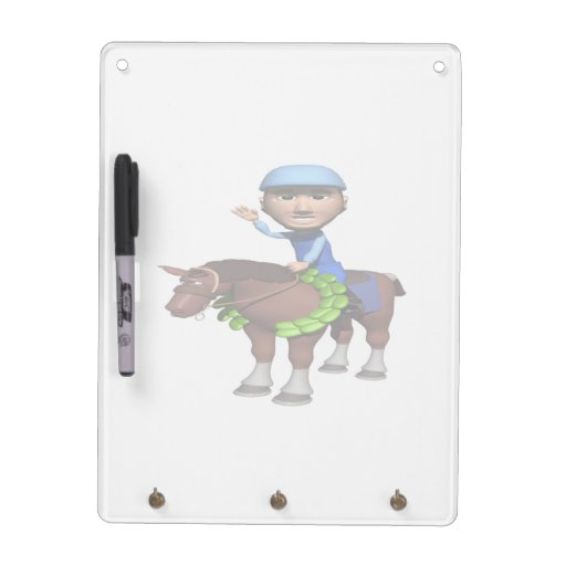 Horse Racing Champion Dry-Erase Board