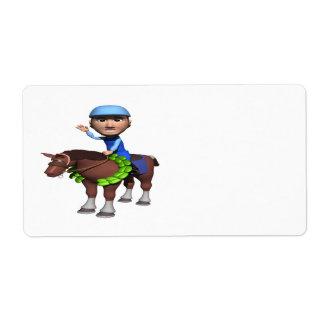 Horse Racing Champion Label