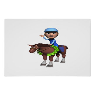 Horse Racing Champion Poster