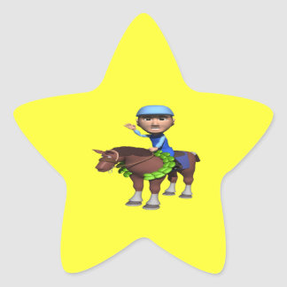 Horse Racing Champion Star Sticker