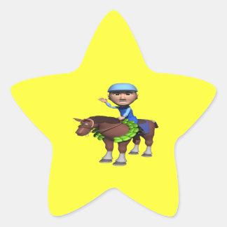 Horse Racing Champion Star Sticker