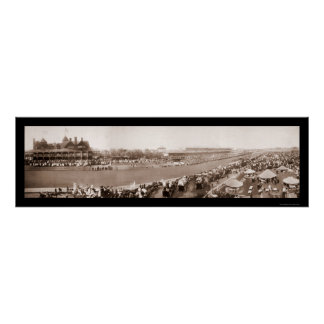 Horse Racing Chicago Photo 1904 Posters