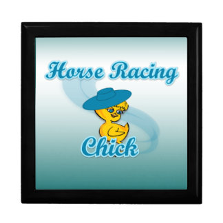 Horse Racing Chick #3 Jewelry Boxes