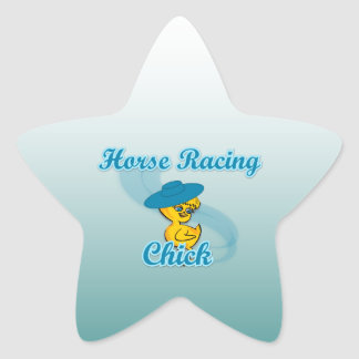 Horse Racing Chick #3 Star Sticker