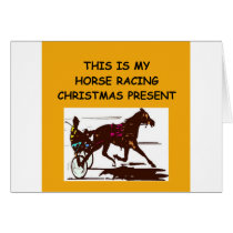 HORSE racing christmas Card