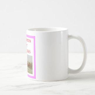 horse racing classic white coffee mug