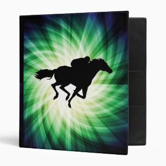 Horse Racing; Cool 3 Ring Binder