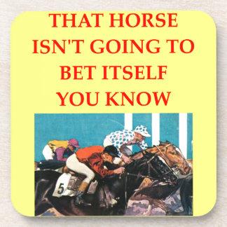 horse racing beverage coaster