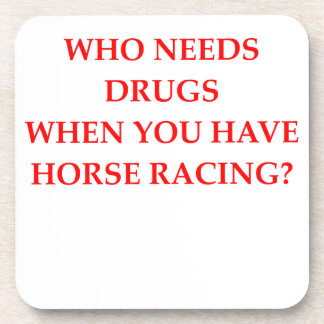 horse racing drink coaster