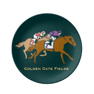 Horse Racing Customizable Dinner Plate