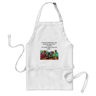 horse racing derby adult apron