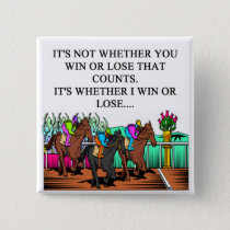 horse racing derby button
