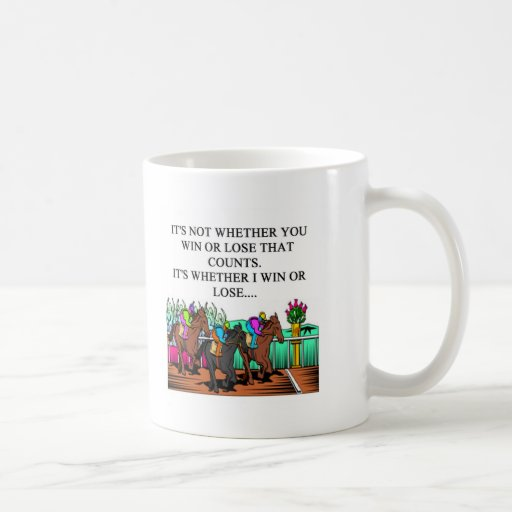 horse racing derby classic white coffee mug