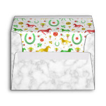 Horse Racing Derby Day Party Colorful Pattern Envelope