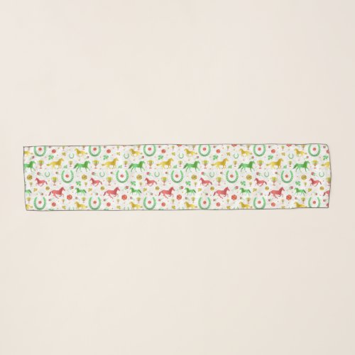 Horse Racing Derby Day Party Colorful Pattern Scarf